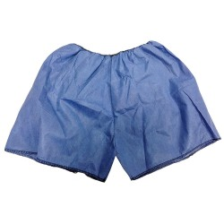 HCS - HCS4002 - Exam Shorts, Large, Blue, Spunbond and Meltblown Material, PK 50