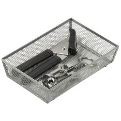 Honey-can-do - KCH-02161 - 1-Compartment Cutlery Tray, 9 L x 6 W x 2 H, Steel