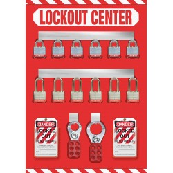 Accuform Signs - KST810 - Lockout Board, Filled, General Lockout/Tagout, 20 x 14