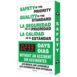 Accuform Signs - SBSCM349 - Scoreboard, Safety Priority, 24 x 36 In.