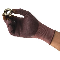 Ansell-Edmont - 11-926 - 18 Gauge Sandy Nitrile Coated Gloves, Glove Size: 7, Purple