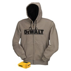 Dewalt - DCHJ068B-2XL - Men's Gray Heated Hoodie, Size: 2XL, Battery Included: No