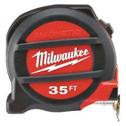 Milwaukee Electric Tool - 48225135 - Milwaukee 48225135 Magnetic Tape Measure, Double-Sided, 35'