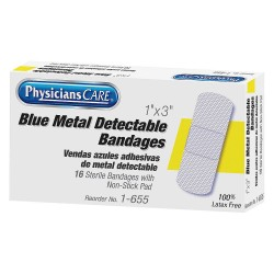 PhysiciansCare - 1-655 - Bandage, Blue, Fabric, 3inLx1inW
