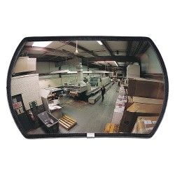 See All - PED-1218 - Rectangular Indoor Convex Mirror, 12 x 18, Viewing Distance: 20 ft.