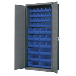 Akro-Mils / Myers Industries - AC3618B - Bin Cabinet, 78 Overall Height, 36 Overall Width, Total Number of Bins 42