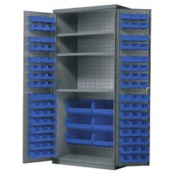 Akro-Mils / Myers Industries - AC3624B3AS - Bin Cabinet, 78 Overall Height, 36 Overall Width, Total Number of Bins 102