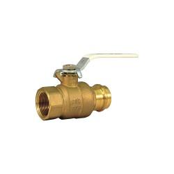 Milwaukee Valve - UPBA-490B - 114 - Brass Press x NPT Ball Valve, Lever, 1-1/4 Pipe Size