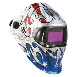 3M - 07-0012-31TB - 100 Series, Auto-Darkening Welding Helmet, 8 to 12 Lens Shade, 3.66 x 1.73 Viewing AreaGraphics