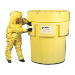 Enpac - 1051-YE - 600 gal. Yellow Polyethylene Open Head Salvage Drum