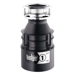 InSinkErator / Emerson - BADGER 1 WITH CORD - 1/3 HP Garbage Disposal, 120 Voltage