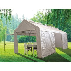 Other - 31EW43 - White Heavy Duty Shelter, 20 ft. Length, 10 ft. Width, 9 ft. 2 Center Height