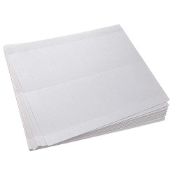 Lucky Line - 35100 - ID Badge, Paper, White, 1/8 in. L, PK400
