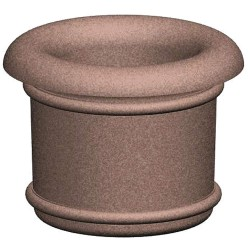 Petersen Mfg - A4 - Security Planter, Concrete, 36 in. H