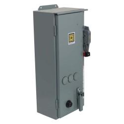Square D - 8538SBA23V02ES - NEMA Fusible Combination Starter, 600VAC Max. Motor Voltage, 18 Amps AC, 110/120VAC Coil Volts