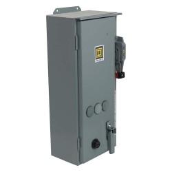 Square D - 8538SCA24V02ES - NEMA Fusible Combination Starter, 600VAC Max. Motor Voltage, 27 Amps AC, 110/120VAC Coil Volts