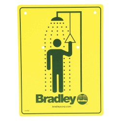 Bradley - 114-050 - Safety Shower Sign, For Use With Bradley Safety Showers
