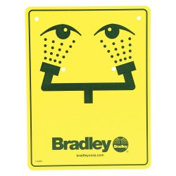 Bradley - 114-051 - Safety Eyewash Sign, For Use With Bradley Eyewashes