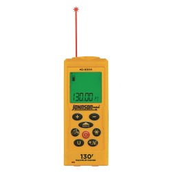 Johnson Level - 40-6004 - Laser Distance Meter 130 ft. Max. Distance, 1/16 Accuracy