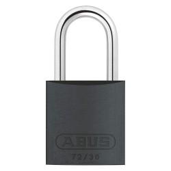 ABUS - 72/30 KA TT36 - Black Lockout Padlock, Alike Key Type, Aluminum Body Material