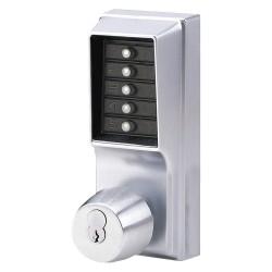 Kaba Ilco - 1012-26D-41 - Mechanical Push Button Lockset, 5 Button, Vandal Resistant, Entry, Satin Chrome