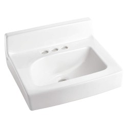 American Standard - 0373027.020 - Vitreous China Wall Lavatory Sink Without Faucet, 13-3/8 x 8-1/2 Bowl Size