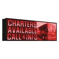 EBSCO - 20MMRR48X112WI-FI - Electronic Message Display Sign, Red