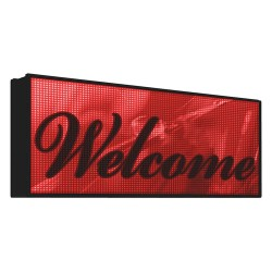 EBSCO - 20MMRR56X112WI-FI - Electronic Message Display Sign, Red