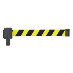 Banner Stakes - PL4041 - PLUS Barrier System Head, Yllw Blk, PK5