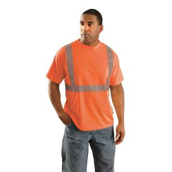 Occunomix - LUX-SSETP2B-O4X - OccuNomix 4X Hi-Viz Orange 100% Wicking Birdseye Polyester T-Shirt, ( Each )