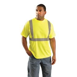 Occunomix - LUX-SSETP2B-YXL - OccuNomix X-Large Hi-Viz Yellow 100% Wicking Birdseye Polyester T-Shirt, ( Each )