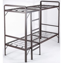 Mantua - 30NSDD - 75 x 30 x 51-1/2 Twin Bunk Bed Frames with 600 lb. Weight Capacity, Brown