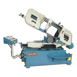 Baileigh Industrial - BS-330SA - 2 HP Horizontal Band Saw, Voltage: 220, Max. Blade Length: 161-1/2