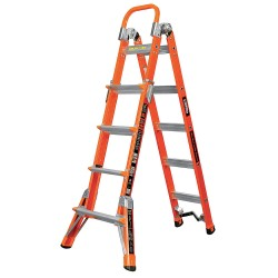 Little Giant - 15144-186 - Little Giant 15144-186 Conquest Fiberglass Ladder M17 Type IAA 375 lb. Capacity w/ V-Rung