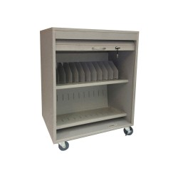 Sandusky Lee - 542332 - Sandusky Lee Tablet Security Cart - 4 Casters - Steel - Platinum - For 24 Devices