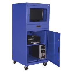 Sandusky Lee - 16CC303064-06 - 30 x 30 x 70 16 ga. Steel Mobile Computer Cabinet, Blue