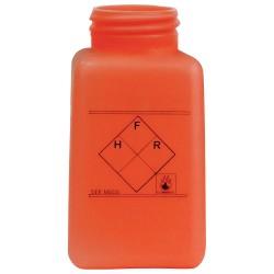 Menda / Desco - 35242 - DurAstatic Dissipative Orange HDPE Bottle with Hazard Label, 6 oz