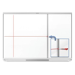 Quartet (Acco) - 85383 - Aluminum Board Grid Assistant, 72-13/16D x 4-1/2W, Silver