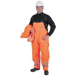 Ansell-Edmont - 66-682 - Chemical Resistant Hi-Viz Bib Overalls, S
