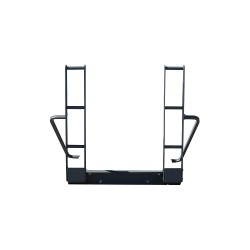 PS Doors - HTG-PCG - Ladder Rung Continuation Handles, Mild Steel, 200 lb. Load Capacity, Adjustable Up To 36 Wide