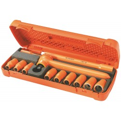 "Facom - FC-S.400AVSE - Insulated Socket Wrench Set, Number of Pieces: 12, 1/2"" Drive Size"