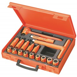 "Facom - FC-S.401AVSE - Insulated Socket Wrench Set, Number of Pieces: 17, 1/2"" Drive Size"
