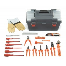"""Facom - FC-2185C.VSE - Insulated Tool Set, Number of Pieces: 28, 1/4"""" Drive Size"""