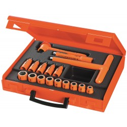 "Facom - FC-J.401AVSE - Insulated Socket Wrench Set, Number of Pieces: 17, 3/8"" Drive Size"