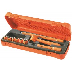 "Facom - FC-J.400AVSE - Insulated Socket Wrench Set, Number of Pieces: 9, 3/8"" Drive Size"