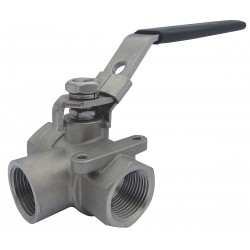 Other - 32H988 - 316 Stainless Steel FNPT x FNPT Ball Valve, Locking Lever, 1/2 Pipe Size