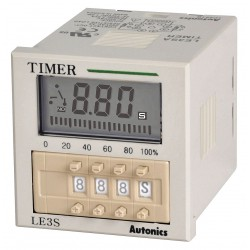 Autonics - LE3SA - 9-Function Time Delay Relay, 24 to 240VAC/24 to 240VDC, 3A Contact Amp Rating (Resistive)