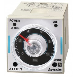 Autonics - AT11DN - Time Delay Relay, 120 to 240VAC Coil Volts, 3A Contact Amp Rating (Resistive), Contact Form: DPDT