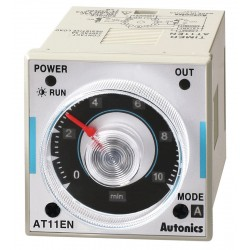 Autonics - AT11EN - Time Delay Relay, 100 to 240VAC Coil Volts, 5A Contact Amp Rating (Resistive), Contact Form: SPDT