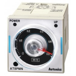 Autonics - AT8PMN-2 - Time Delay Relay, 24VAC/DC Coil Volts, 3A Contact Amp Rating (Resistive), Contact Form: DPDT